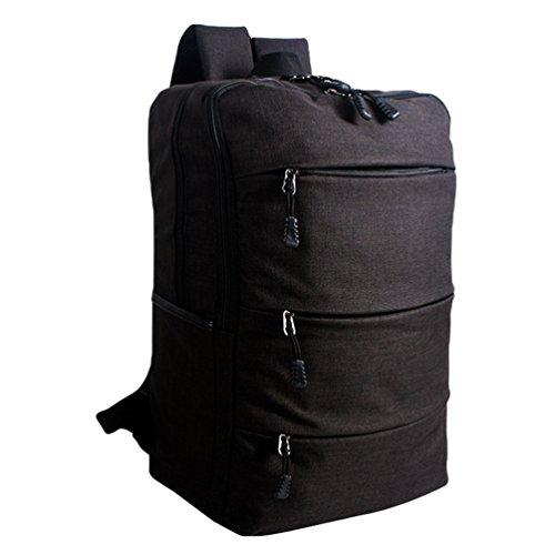 ZKOO Mochilas Escolares Lona Escolar Mochilas Daypacks Gran Capacidad Bookbag Mochila de Viaje Laptop Backpack Negro