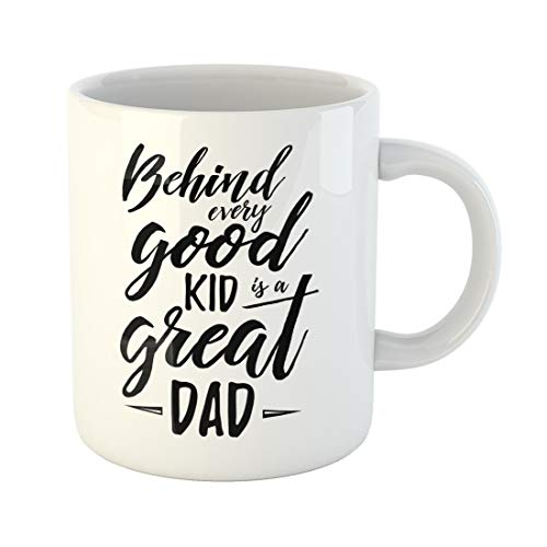 Semtomn Funny Coffee Mug Fathers Day Inspirational Poster Handwritten Modern Brush Lettering Card for 11 Oz Ceramic Coffee Mugs Tea Cup Best Gift Or Souvenir]()