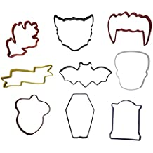 Wilton Color-Coated Metal Cookie Cutters For Halloween And Fall, 9-Count