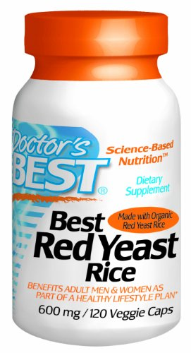 Best Best levure de riz rouge de médecin (600 mg), 120-Count