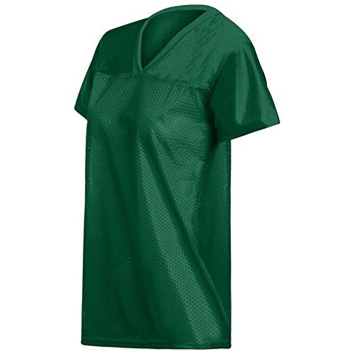- Augusta Activewear Ladies Replica Football Tee, Dark Green, XX Large