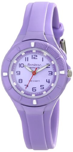 Armitron Sport Women's 25/6416LAV Easy-to-Read Dial Lavender Resin Strap Watch