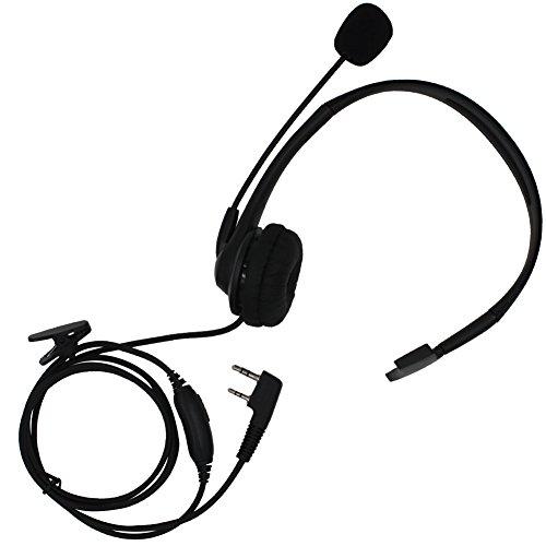 overhead earpiece headset boom mic