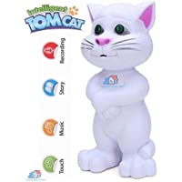 Hetkrishi Talking Tom Cat with Touch Recording Story Rhymes and Songs (White)