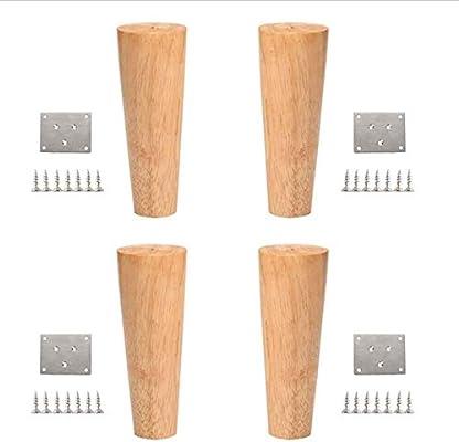 AT 4 × patas de sofá de madera maciza, patas de mesa de madera para el