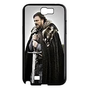 Durable Hard cover Customized TPU case Game Of Thrones Eddard Stark Samsung Galaxy N2 7100 Cell Phone Case Black