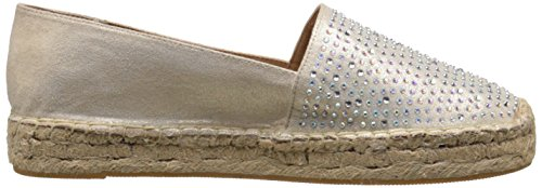 Flach Pumps Espadrille Gold Rund White Metallic Mountain Frauen Harmonize qPpTYp