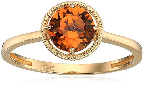 10k Gold Swarovski Crystal November Birthstone Ring, Size 6