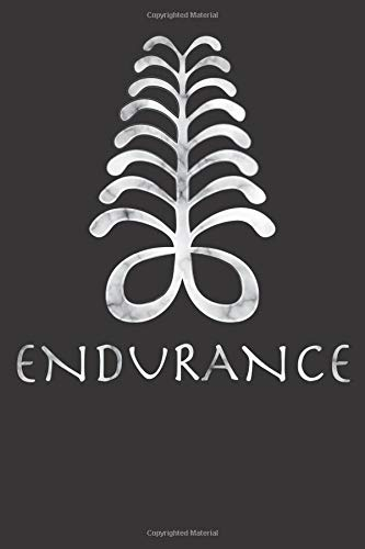 West Africa Adinkra AYA Fern Meaning ENDURANCE  Blank Lined Notebook Journal Or Diary