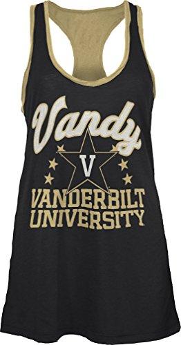Three Square by Royce Apparel NCAA Vanderbilt Commodores Nelly Tank, Small, Black