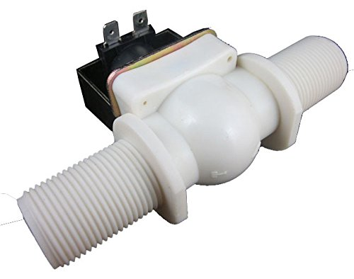 DIGITEN 3/4 DC 12V Electric Solenoid Valve Normally Closed N/C Water Inlet Flow Switch