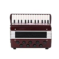 Jacksking Dollhouse Accordion, 1:12 Miniature Dollhouse Musical Instruments Accordion Model Toy Decoration Home Ornaments