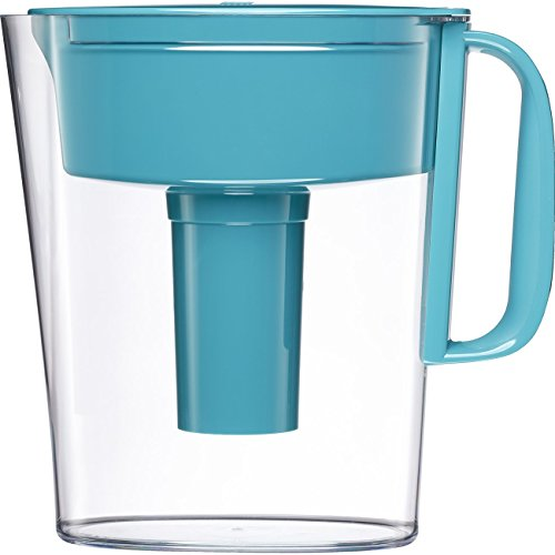 Brita 10060258361725  Small 5 Cup Metro Water Pitcher with Filter - BPA Free - Turquoise (10 Drinking Water Filter)