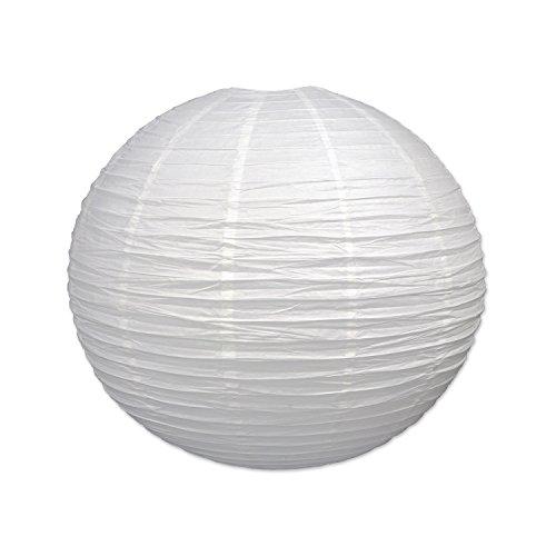 Beistle Jumbo Paper Lantern, 30-Inch, White, White ()