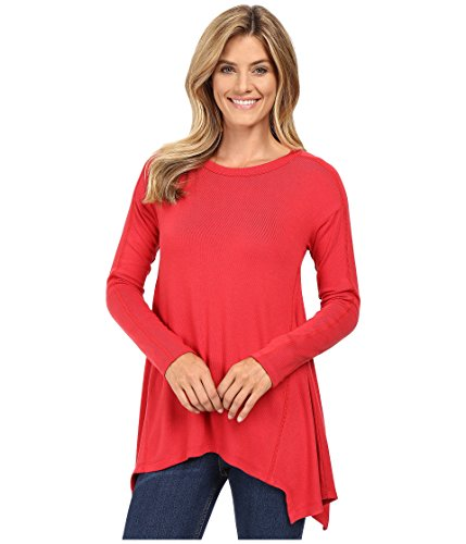 Karen Kane Women's Paneled Handkerchief Top Brick Shirt