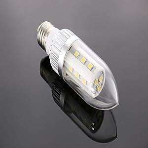 wdca E27 4W 18*5050SMD 350LM 6000-6500K Cool White Light LED Corn Bulb (85-265V)