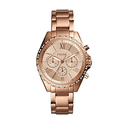 Fossil Women's Modern Courier Quartz Stainless Steel Chronograph Watch, Color:...