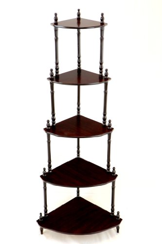 Cherry Corner Shelf - Frenchi Home Furnishing 5-Tier Corner Stand