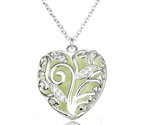 Most Beloved Steampunk Glow in the Dark Heart Necklace By Lifetime (Bear Arms Costume)