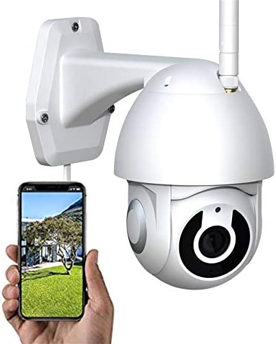 Outdoor safety digital camera water-resistant wifi night time imaginative and prescient, Tuya good house outside digital camera cell Ethernet dome cloud 1080 stressed out two-way dialog, house surveillance digital camera with movement detection, Alexa