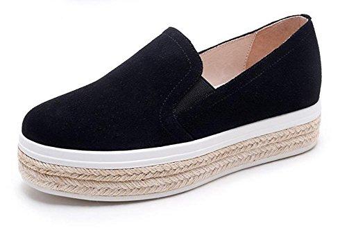 d'ascenseur chaussures d'automne et chaussures la gâteau Black de croûte chaussures Spring Mme chaussures pin de simples pour femmes épais Mme sport EwqZnWF5A