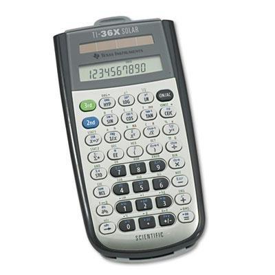 Texas instruments ti-36x solar scientific calculator with cover.