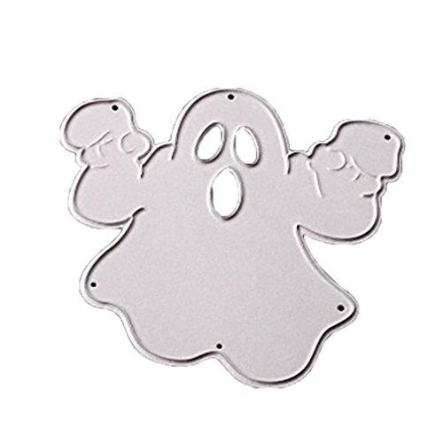 Fabal Happy Halloween Pumpkin Azrael Ghost Cross Witch Skull Metal Cutting Dies Stencils Scrapbooking Embossing DIY Crafts (A) -
