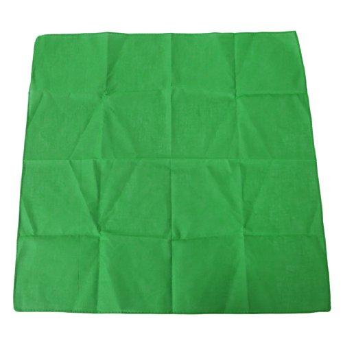 HDE 100% Cotton Solid Color Bandana Handkerchief Head Wrap - Green