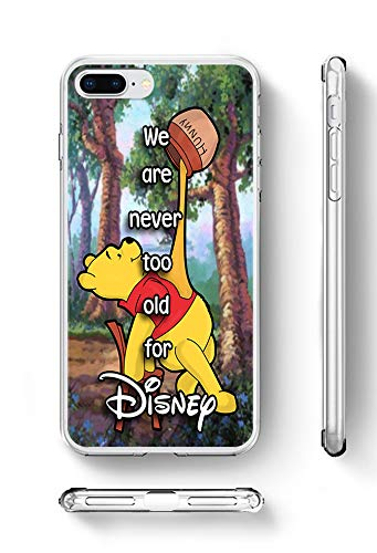 c riveras Winnie The Pooh Inspired Phone Case Disney Quote Mobile Case Soft Rubber Silicone Fan Art for iPhone SE iPhone 5 and iPhone 5s (Quote Case For Iphone 5s)