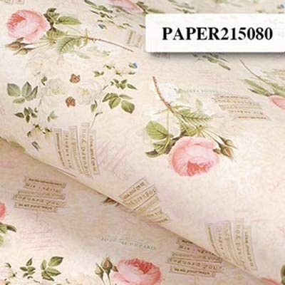 Gift Wrapping Paper - 10 Sheet Roll Floral Patterned Gift Packaging Flower Wrapping Packing Paper Background Craft DIY Scrapbook Accessiories 52X75cm -