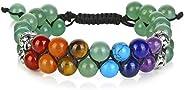 Top Plaza Bead Chakra Bracelet 7 Chakras Healing Crystals Bracelet Yoga Stone Beads Bracelets Meditation Relax