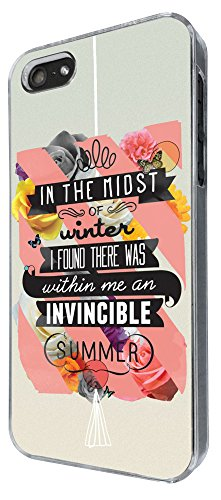 336 -christian quote in the midst of winter i found there was within me an invincible summer Design iphone 4 4S Coque Fashion Trend Case Coque Protection Cover plastique et métal