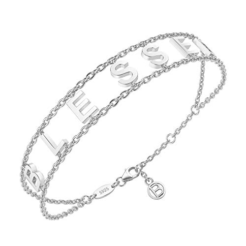 Get Charm Well (MISSLOVE Blessed Bracelet 925 Sterling Silver Jewelry Good Luck Gift (A-Silver))