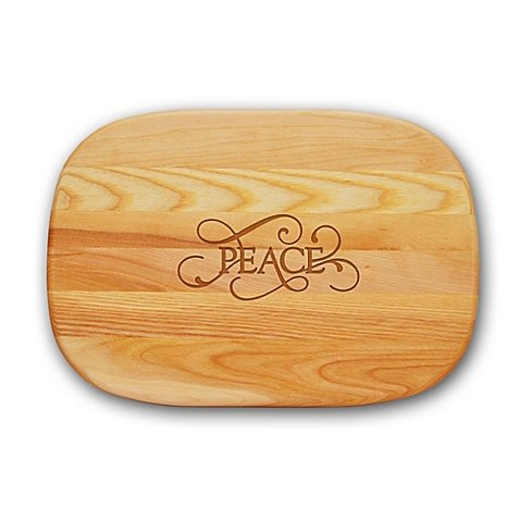 Carved Solutions Everyday Collection ''Peace'' 15-Inch x 10-Inch Cutting Board
