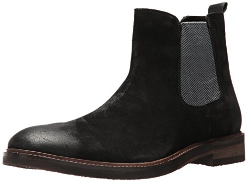 Steve Madden Men's Teller Chelsea Boot, Black Suede, 10 US/US Size Conversion M US