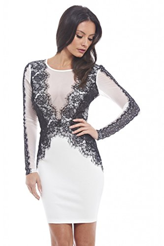 lace detailed bodycon dress - 8