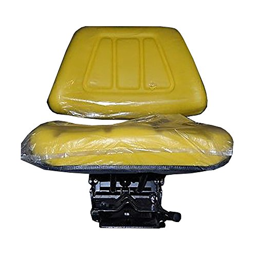 Yellow John Deere New Mechanical Suspension Seat Assembly w/ Hyd. Shock Absorber by StevensLake