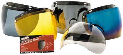 Echo 3 Snap Flip Shield for Motorcycle Helmet (Amber)