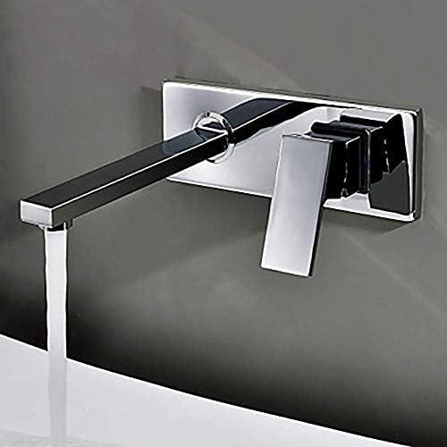 CHENBIN-BB タップの浴室のシンクの蛇口 - 回転クロームウォールマウント2穴/シングルハンドル2穴風呂の蛇口の水