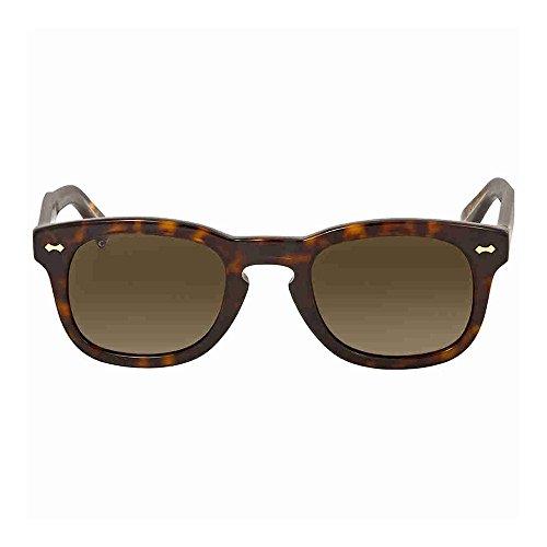 Gucci GG 0182S 003 Havana Plastic Square Sunglasses Brown - Havana Square Gucci Frame Sunglasses