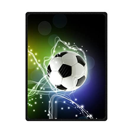 Fleece Throws Football Soccer Ball Blankets 40 X 40 Large By Delectable Soccer Blankets And Throws