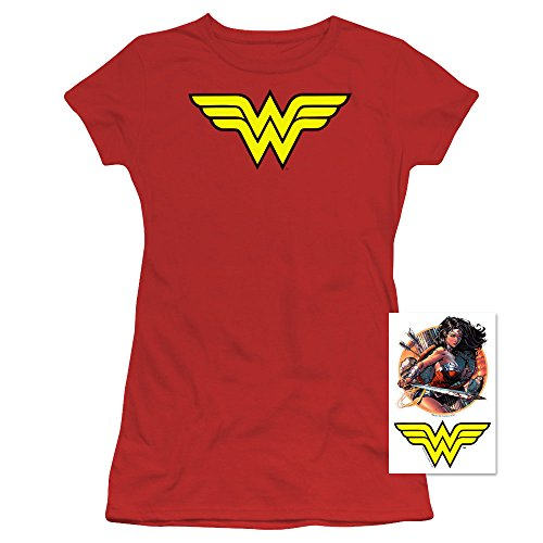 Wonder+Woman+Shirts Products : Wonder Woman Classic Logo T Shirt and Exclusive Stickers