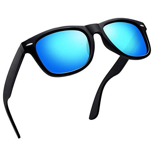 Joopin Retro Men Polarized Sunglasses Women Brand Sun Glasses Polaroid Lens With Box (Ice ()