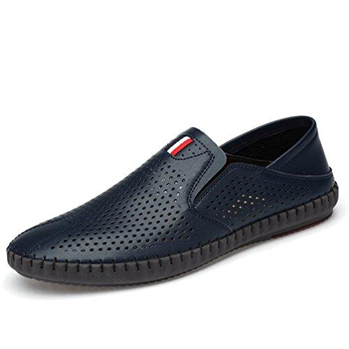 Sintético Azul Zapatos De Feidaeu Hombre z87WS
