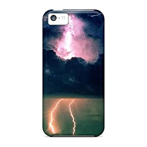 Hot Lightning303 First Grade Tpu Phone Case For Iphone 5c Case Cover