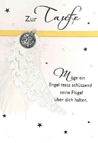 Glückwunschkarte Zur Taufe Möge Ein Engel Stets Schützend