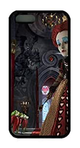 TPU Black Color Soft Case For iPhone 5S Latest style Case Suit iPhone5/5S Very Nice And Ultra-thin Case Easy To Use Alice In Wonderland 14