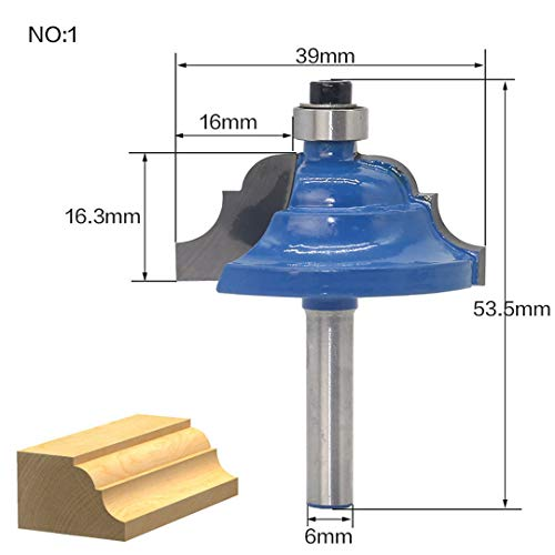 (1Pcs 6Mm Shank Wood Router Bit Straight End Mill Trimmer Cleaning Flush Trim Corner Round Cove Box Bits Milling Cutter NO1)