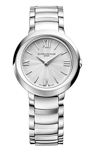 New Ladies Baume & Mercier Promesse Silver Dial Quartz 30mm Steel Watch 10157
