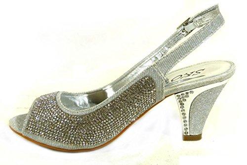 SKO'S , Sandales pour femme Silver (A9)